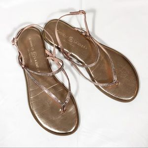 CL Rose Gold Sandals Size 8.5